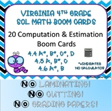 SOL Review Computation and Estimation Boom Cards 4th Grade