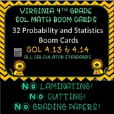 SOL Review Probability & Statistics Boom Cards 4th Grade
