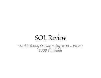 SOL Review: World History II (2008)