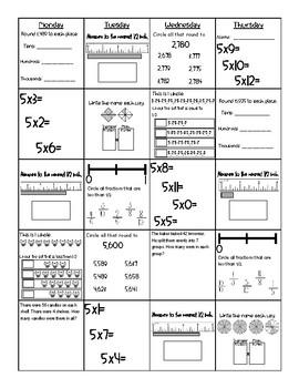 3rd Grade Math SOL Review