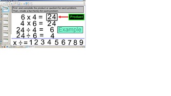 SOL TEI Multiplication & Division Fact Families