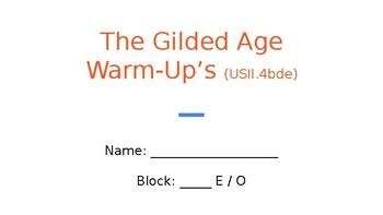 Gilded Age Bellringers Flipchart