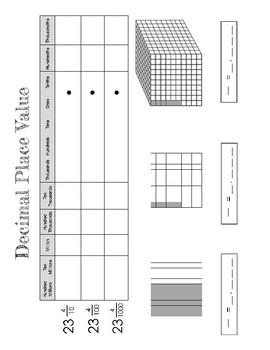 SOL4.3 Decimal Concepts Interactive Notebook