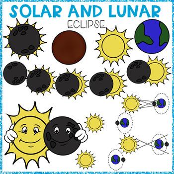 SOLAR AND LUNAR ECLIPSE CLIP ART