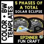 SOLAR ECLIPSE 2017 ACTIVITIES (TOTAL SOLAR ECLIPSE 2017 CRAFTS SPINNER)