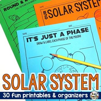 SOLAR SYSTEM PRINTABLES: Space Science Organizer & Printab