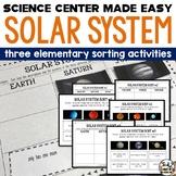 SOLAR SYSTEM - 3 NO PREP SORTING ACTIVITIES
