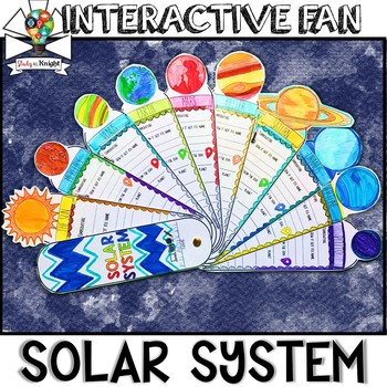 Solar System Activity Planets Research Facts Fill In Interactive Fan