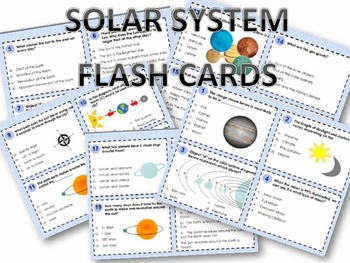 SOLAR SYSTEM FLASH CARDS FOR SCIENCE