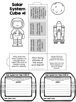 SOLAR SYSTEM--PLANETS--REVIEW ACTIVITIES, Exit Tickets, Lesson Plan PACK