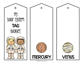 STEM Solar System Tag Booklet - Interactive Notebook Activity
