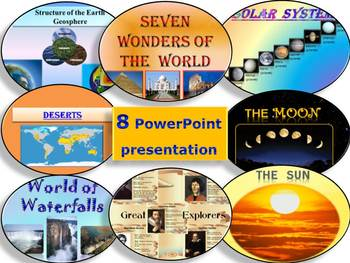 Solar  System Sun Moon Earth Deserts 7 Wonders BUNDLE distance learning