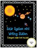 SOLAR SYSTEM WRITING STATION