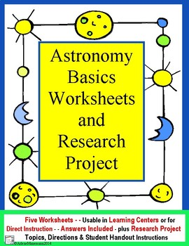 ASTRONOMY Worksheets and Research Project