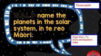 SOLAR SYSTEM- te reo Māori Unit