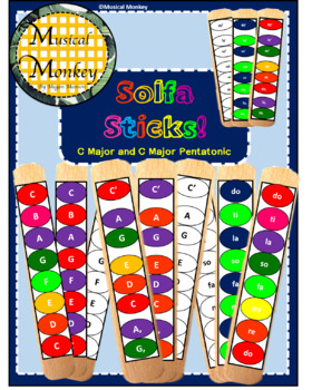 SOLFA STICKS in C Major and C Pentatonic