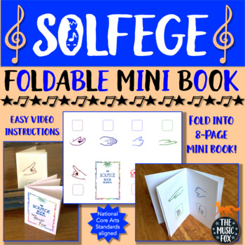 solfege foldable mini book 8 page curwen kodály hand signs grades