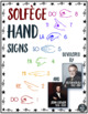 SOLFEGE Poster With KODÁLY/CURWEN Hand Signs *3rd Grade through 12th Grade*