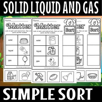 SOLID LIQUID AND GAS EXAMPLE SORT