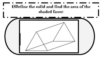 SOLIDS/3D SHAPES TASK CARDS ACTIVITY