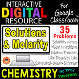 SOLUTIONS & MOLARITY Digital Resource for Google Classroom~ CHEMISTRY