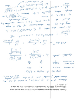 SOLUTIONS TO Chemical Equilibirum Numerical Questions Part 1