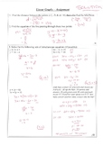 SOLUTIONS for Year 10 Coordinate Geometry & Simultaneous E