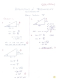 SOLUTIONS to Applications of Trigonometry