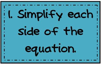 Posters for the Math Classroom - Solve Equations