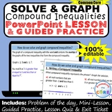 SOLVE & GRAPH COMPOUND INEQUALITIES PowerPoint Mini-Lesson & Guided Practice