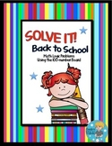 SOLVE IT! Back to School Math Logic Problems Using 100-number Board