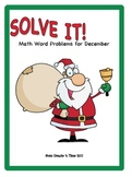 SOLVE IT! December Math Word Problem Activity Packet