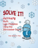 SOLVE IT! January Math Logic Problems Using the 100-number Board