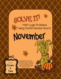 SOLVE IT! November Math Logic Problems Using the 100-number Board