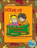 SOLVE IT! Back to School Shopping Math Logic Problems Using 100-number Board