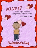 SOLVE IT! Valentine Math Logic Problems Using the 100-number Board