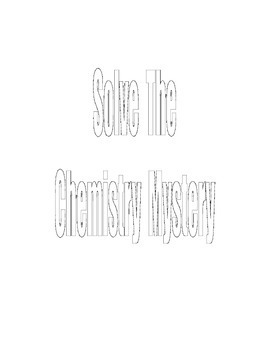 SOLVE THE CHEMISTRY MYSTERY Answer Key   SALE   $1.99