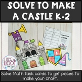 SOLVE TO MAKE math task cards and craft Castle