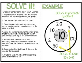 SOLVE it! Mult./Div. to the 10s- A new TWIST to Flashcards! Edition 2