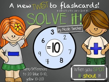 SOLVE it! Sums/Differences to 20- A New TWIST to Flashcards!