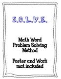 SOLVE math strategy workmat