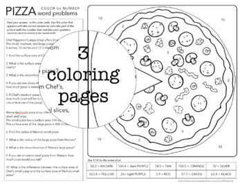 SOLVING CIRCLES coloring activity - FUN for Pi Day