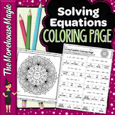 SOLVING EQUATIONS WITH VARIABLES ON BOTH SIDES COLORING PAGE, QUIZ