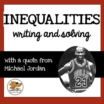 INEQUALITIES - writing and solving / BLACK HISTORY