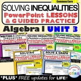 SOLVING INEQUALITIES Mini-Lessons & Guided Practice (Algeb