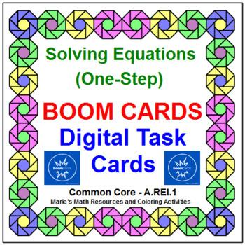 "SOLVING ONE-STEP EQUATIONS: ""DIGITAL"" BOOM CARDS (60 TASK CARDS)"