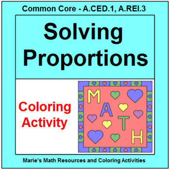 Proportions Coloring Activity Teaching Resources | Teachers Pay Teachers