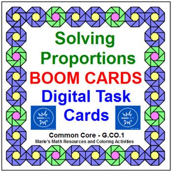 "SOLVING PROPORTIONS: ""DIGITAL"" BOOM CARDS (100 TASK CARDS)"