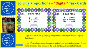 "SOLVING PROPORTIONS: ""DIGITAL"" BOOM CARDS (130 TASK CARDS)"