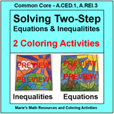 SOLVING TWO-STEP EQUATIONS AND INEQUALITIES:  2 COLORING ACTIVITIES